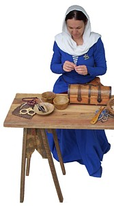 Rosalie's Medieval Woman - Fabrics and Sewing