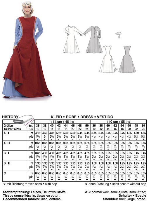 Rosalie\'s Medieval Woman - Bought Patterns